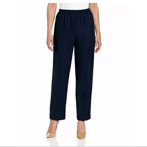New Alfred Dunner Navy Blue Pull On Pants 16W